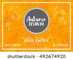 fall festival template. bright... | Shutterstock .eps vector #492674920