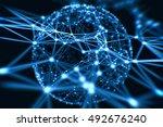 abstract technology neural... | Shutterstock . vector #492676240