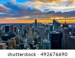 new york  united states  ... | Shutterstock . vector #492676690