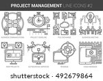 project management infographic... | Shutterstock .eps vector #492679864