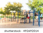 blurred image group of active... | Shutterstock . vector #492692014