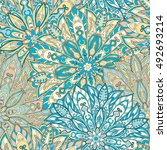 seamless mandala pattern for... | Shutterstock . vector #492693214