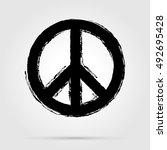 peace symbol icon vector... | Shutterstock .eps vector #492695428