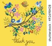lovely illustration of blossom... | Shutterstock .eps vector #492698428