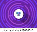 abstract round comic background ... | Shutterstock .eps vector #492698518