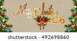 christmas background. abstract... | Shutterstock .eps vector #492698860
