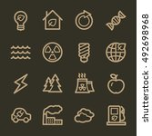 ecology web icons.  green... | Shutterstock .eps vector #492698968