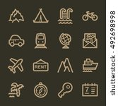 travel web icons.  vacation and ... | Shutterstock .eps vector #492698998
