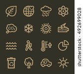 ecology web icons.  green... | Shutterstock .eps vector #492699028