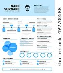 resume minimalist cv  resume... | Shutterstock .eps vector #492700588