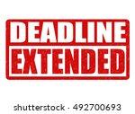deadline extended grunge rubber ... | Shutterstock .eps vector #492700693