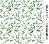 floral seamless pattern... | Shutterstock . vector #492715906