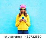 fashion pretty sweet carefree... | Shutterstock . vector #492722590