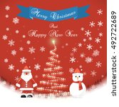 merry christmas happy new year | Shutterstock .eps vector #492722689