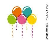 birthday celebration with... | Shutterstock .eps vector #492725440
