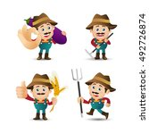 people set   profession   farmer   Shutterstock .eps vector #492726874