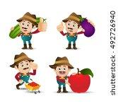 people set   profession   farmer   Shutterstock .eps vector #492726940