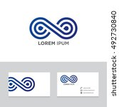 logo brand icon business card... | Shutterstock .eps vector #492730840
