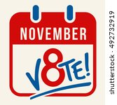 reminder to vote in the... | Shutterstock .eps vector #492732919
