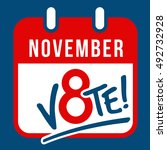 reminder to vote in the... | Shutterstock .eps vector #492732928