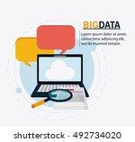 big data center base and web... | Shutterstock .eps vector #492734020