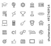 college line icons on white... | Shutterstock .eps vector #492740914