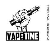 poster vape time | Shutterstock .eps vector #492742618