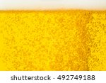 close up bubble of beer in glass | Shutterstock . vector #492749188