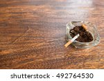 cigarette butts with ash in...   Shutterstock . vector #492764530