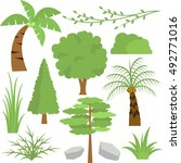 jungle trees | Shutterstock .eps vector #492771016