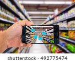 augmented reality application... | Shutterstock . vector #492775474