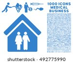 family house icon with 1000... | Shutterstock .eps vector #492775990