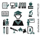learning icon set | Shutterstock .eps vector #492779110