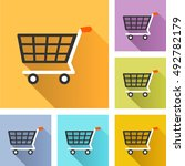 illustration of shopping cart... | Shutterstock .eps vector #492782179