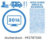 2016 display icon with 1000... | Shutterstock .eps vector #492787330