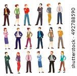 collection vector illustrations ... | Shutterstock .eps vector #492788590