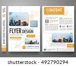 brochure design template vector.... | Shutterstock .eps vector #492790294