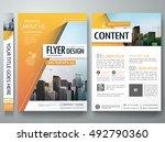 brochure design template vector.... | Shutterstock .eps vector #492790360
