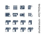 kiosk terminal service info... | Shutterstock .eps vector #492790546