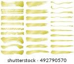 set of brush stroke... | Shutterstock .eps vector #492790570