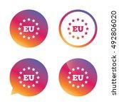 european union icon. eu stars... | Shutterstock .eps vector #492806020
