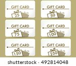 gift card with a gift box. set...   Shutterstock .eps vector #492814048