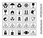 packaging symbols. vector... | Shutterstock .eps vector #492815614