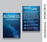 vector brochure flyer design... | Shutterstock .eps vector #492817873