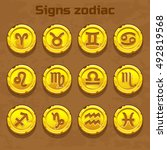 signs zodiac on the old gold...