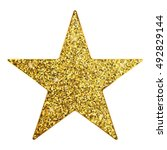 vector illustration of gold star   Shutterstock .eps vector #492829144
