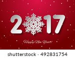 vector happy new year 2017... | Shutterstock .eps vector #492831754