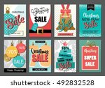 set of sale holiday website... | Shutterstock .eps vector #492832528