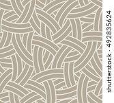 vector linear seamless pattern. ... | Shutterstock .eps vector #492835624