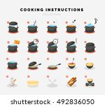cooking flat icons for... | Shutterstock .eps vector #492836050